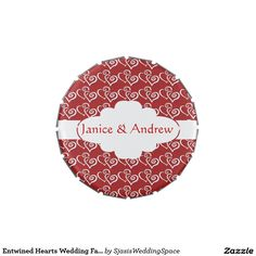 Entwined Hearts Wedding Favor Candy Tin