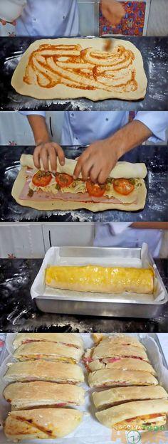 Baked Potato Recipes, Pizza Recipes, Appetizer Recipes, Portuguese Recipes, Galette, Other Recipes, Diy Food, I Love Food, Finger Foods