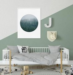 Nursery Wall Art Printable Forest Print Nursery Boys Room | Etsy Nursery Prints, Nursery Room, Nursery Wall Art, Nursery Decor, Kids Decor, Decor Ideas, Room Ideas, Home Decor, Quote Prints