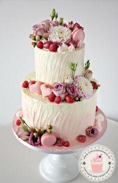 Wedding-Hochzeit – Julia Bärwald – Wedding Cakes With Cupcakes Beautiful Cupcakes, Beautiful Wedding Cakes, Gorgeous Cakes, Pretty Cakes, Cute Cakes, Amazing Cakes, Cake Pops Roses, Pink Cake Pops, Wedding Cakes With Cupcakes