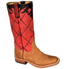 Men's Anderson Bean Tan Distressed American Buffalo Boots. Affordable, quality and good looks!