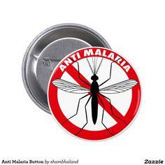 Anti Malaria Button 5.7cm 丸型バッジ