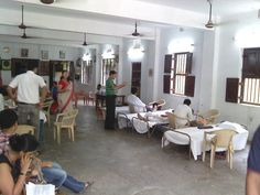 Inside the blood donation venue