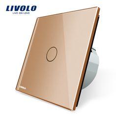 Livolo neue typ touch-schalter, goldene Farbe, 220 ~ 250 V Touchscreen Wand Lichtschalter, VL-C701-13