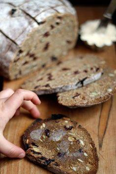 "Recipe: Rye ""Toasting"" Bread with Cherries & Pumpkin Seeds"