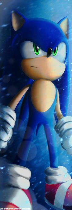 Sonic The Hedgehog by IfreakenLoveDrawing.deviantart.com on @deviantART