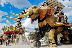 The Giant Mechanical Elephant Made From Recycled Parts!