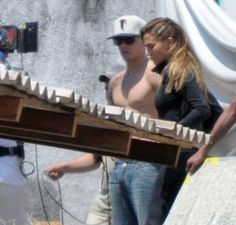 "Jennifer Lopez and her boyfriend Casper Smart filming a music video ""Follow the Leader"" in Acapulco, Mexico."