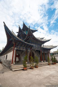 Chinese Christian Church - A beautiful Christian church built in a traditional Chinese architectural style in the historic old village of Dali (ARCHIVED PHOTO on the weekends - originally photographed 2007/06/14). - Dali, Yunnan, China - Daily Travel Photos - Once Daily Images From Around The World - Travel Photography - Travel Stock Photos
