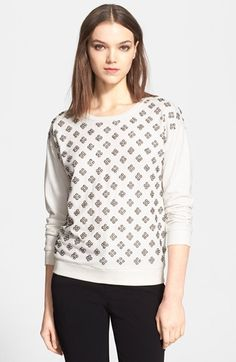 Alice+++Olivia+'Drew'+Embellished+Sweater+available+at+#Nordstrom