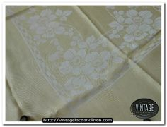 Cream retro tablecloth