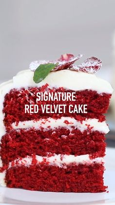 Classic Red Velvet Cake One of Chef Eddy's favorites! This Red Velvet cake is moist and delicious and finished off with a rich and creamy frosting. It is a sure hit! Köstliche Desserts, Delicious Desserts, Mini Dessert Recipes, Macaroon Recipes, Indian Dessert Recipes, Candy Recipes, Plated Desserts, Cupcake Recipes, Ethnic Recipes