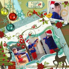 This is for Janet's December 2016 Free Template Challenge  I used the Fantastic Free December 2016 Template by Janet (Thank You Janet!), and Christmas Caper by Elizabeth's Market Cross.