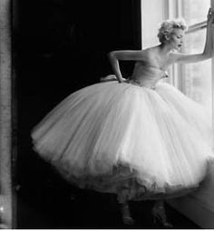 Tulle dress #vintage WOW now that's a LOT of tulle! this is pretty:)
