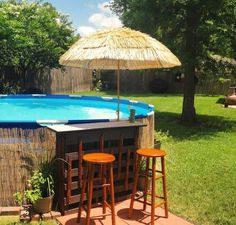 Most Popular Above Ground Pools with Decks (Awesome Pictures). Above Ground Pool Designs Above Ground Swimming Pool Landscaping Ideas With Wooden Deck swimmingpool deck PoolLandscape. Piscina Diy, Piscina Pallet, Bar Piscina, Piscina Intex, Above Ground Pool Landscaping, Swimming Pool Landscaping, Above Ground Pool Decks, Above Ground Swimming Pools, In Ground Pools