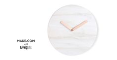 Cullen Wall Clock, Marble and Copper | made.com
