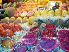 Fruits in the farmers market Las Palmas de Gran Canaria