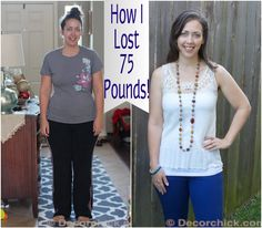 75 pound weight loss story @Decorchick