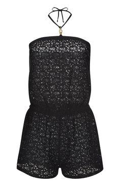 Primark - Black Crochet Lace Playsuit Primark, Lace Playsuit, Summer Wardrobe, Crochet Lace, Rompers, My Style, Amazing, Black, Dresses