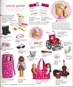 American Girl does it again! Now offering hearing aids and allergy free lunches as accessories for their famous dolls!