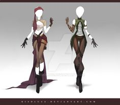 (OPEN) Adoptable Outfit Auction 155-156 by Risoluce.devianta... on @DeviantArt