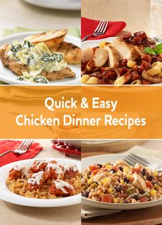 Make busy weeknight meal planning easier. We have lots of easy and delicious chicken recipes your whole family will love.