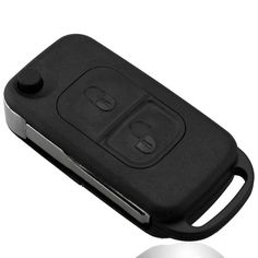 2 Button Flip Folding Key Shell Case Entry Remote Key Cover Replacement for Mercedes Benz A C E S W168 W202 W203