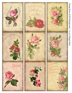 Vintage Roses Collage Sheet