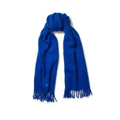 Polo Ralph Lauren Wool-Blend Scarf ($68) ❤ liked on Polyvore featuring accessories, scarves, fringed shawls, embroidered scarves, ralph lauren scarves, ralph lauren shawl and ralph lauren