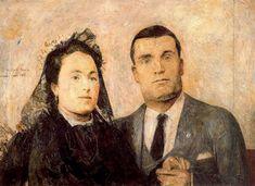 Antonio y Carmen. Obra de Antonio López García