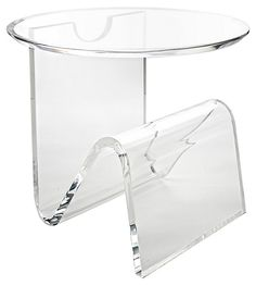 Round-Top Magazine Table | Total Transparency | One Kings Lane