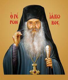 elder Iakovos of Evia_Старец Иаков (Тсаликис) Saint Barbara, Life Of Christ, Jesus Christus, Orthodox Christianity, Orthodox Icons, Christian Art, History, Contours, Cyprus