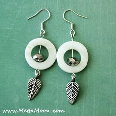 MettaMoon White Forest Earrings LAST DAY for the SPRING SALE!!! www.METTAMOON.com