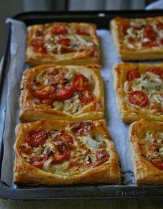 brie, fennel + tomato tarts
