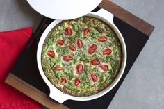 Egg Bake with Sausage, Spinach, and Tomatoes (via marriahlavigne.com)