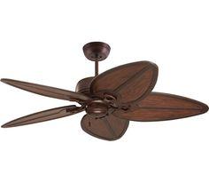 "Emerson CF620VNB, Laguna Bay Venetian Bronze 52"" Outdoor Ceiling Fan with B61VWA Blades"