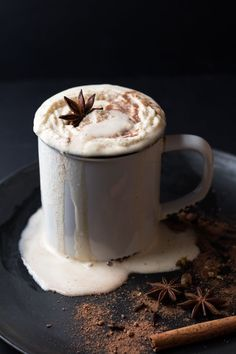A healthy recipe for a Spiced Hot Chocolate. Rich and creamy and sweet and DIVINE! Embrace clean eating & real food also for Thanksgiving & Christmas.