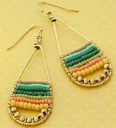 These Summer Fun Earrings look so cute with the new Duracoat seed beads we just got in. I am going to whip up some for myself and my friends. FusionBeads.com