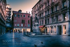 Venice#10 - Campo San Bartolomeo - A small venetian square located in the commercial center 20 metre away from the Rialto Bridge.