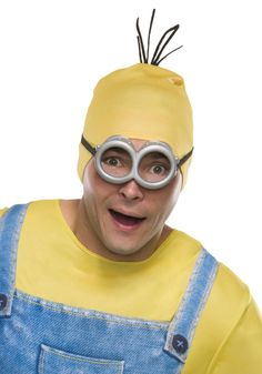 Rubie's Costume Co Men's Minion Stewart Headpiece, Yellow, One Size Minion Goggles, Minion Dave, Be The Creature, Minion Banana, Minion Pumpkin, Weird Inventions, Happy Birthday Minions, Minion Costumes, Crazy Hair Days