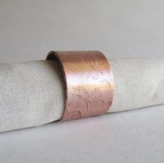 Hammered Copper Napkin Ring  Hand Forged Napkin by heartsabustin