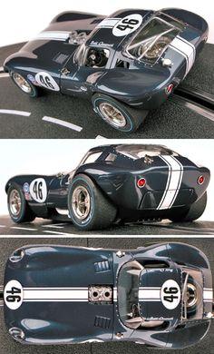 """Carrera Digital Cheetah D124 Blue """"No. 46"""" 1/24 Slot Car"""