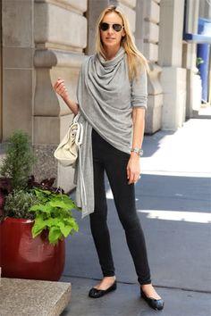 Grey shawl, Black jeans, Ballet Flats (always bring a scarf or shawl)