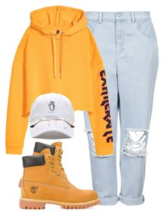 """""""Bts: Go Go Comeback 1"""" by keshiamoore115 ❤ liked on Polyvore featuring Boutique, H&M, Timberland and Ray-Ban"""