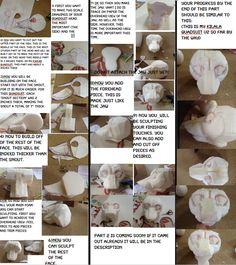 Quadsuit head tutorial part 1 by Yamishizen on DeviantArt Costume Tutorial, Cosplay Tutorial, Fursuit Tutorial, Fursuit Head, Puppet Crafts, Design Reference, Art Tutorials, Deviantart, Character Art