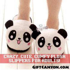 Crazy, Cute, Comfy Plush Slippers for Adults