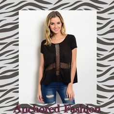 Edgy Mesh High-Low Top This top is 100% Polyester. Mesh cross front and open mesh back. Super soft and light. Available in sizes S,M,L. If you don't see your size ask me, I will make you a custom listing or bundle. Tops Muscle Tees