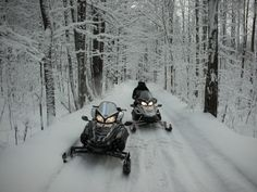 Take a ride outside in the fluffy snow with Charlevoix Snowmobile Club!