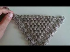 Easy Peanut Shawl Making - lif modelleri Crochet Crocodile Stitch, Crochet Stitches, Crochet Patterns For Beginners, Knitting For Beginners, Filet Crochet, Knit Crochet, Crochet Stars, Salwar Designs, Crochet Videos