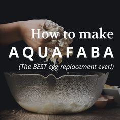 Aquafaba is probably the best and most powerful egg replacer ever. It's made from the water created as a by product of cooking beans, so canned bean water will work just fine! Click through to find out how you can make your own!
